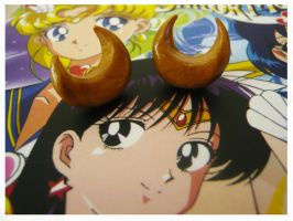 Sailor Moon Super Earrings by Silly-Thing