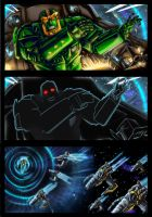 Collab: Transwarp Primal  issue 1 page 8 colors by Taleea