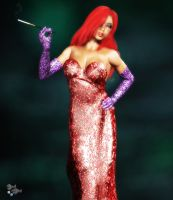 Jessica Rabbit: Painted by Axel-Doi