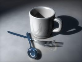 Cup, Fork and Spoon by 3Darts