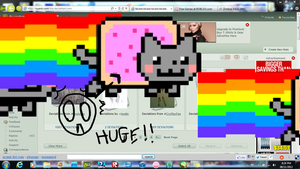 .....the nyan cat apocalipse by FatePaintedBlue