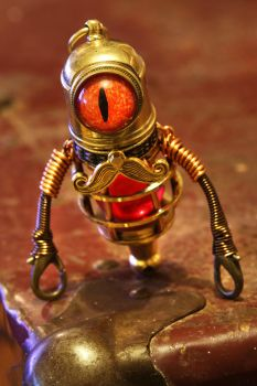 Jeeves the Steampunk Minion Robot by CatherinetteRings