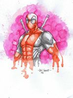 Dead Pool Watercolors Scan by MetaWorks