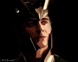 My painting of Loki by Redisher