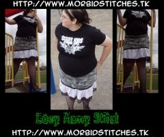 Lacy Army Skirt by morbid-stitches