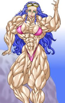 Muscular middle-aged woman by ikura-maru