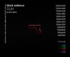 Black Radience Gun Wallpaper by NiTE-ANTiX