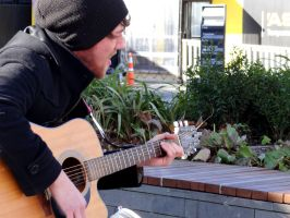 Busker #3 by Aroha-Photography