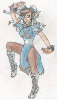 Chun Li Classic with Pencil Colours by ChrisNext