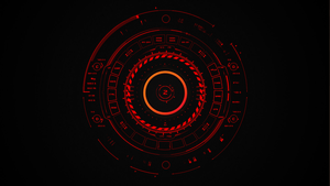 Second Rainmeter Desktop - Tech Red by ApatheticApogee