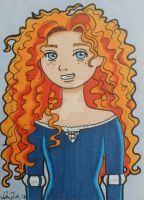 Merida ACEO card by LadyNin-Chan
