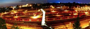 Hamburg Trainyard by rauwelmensn