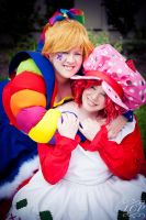 Rainbow Brite + Strawberry Shortcake by LiquidCocaine-Photos