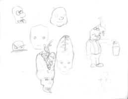 Face Sketchdump by Orgeston