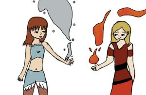 Water and Fire Bender by KikioSapphire