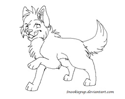Free Cat Lineart by SnookiePup