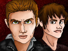 Sam And Dean Winchester by Chrisily