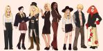 American Horror Story Coven characters by mannequin-atelier