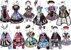 CLOSED- Kimono dresses by Guppie-Adopts