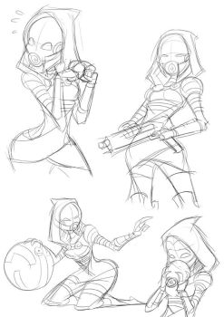 Tali sketches 2 by chikinrise