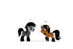 Middy and Riygan's Foals (if they had one or two) by icewolf66