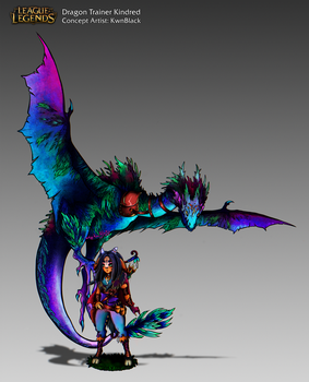 [Concept Art] Dragon Trainer Kindred by KwnBlack