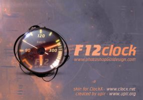 F12clock- speedometer clock by upiir
