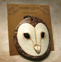 Leather Barn Owl Necklace by Dr-K