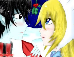 Painless Love(Marshall Lee  and Fionna) by Shai3518