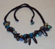 Midnight Blue Woven Necklace by ACrowsCollection