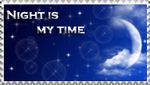 Night is my time stamp by VegetasLittleLover