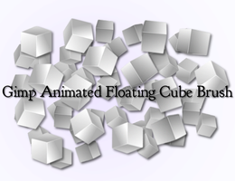 Gimp Animated Floating Cube Brush by Geosammy
