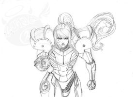 Samus Aran sketch by Luna-JMS