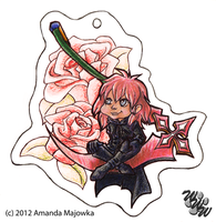 Marluxia Keychain by White--Whiskers