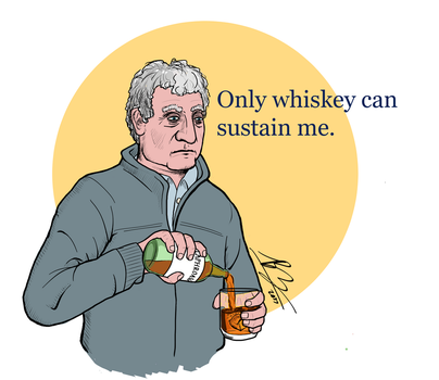 Only whiskey can sustain me by BrenZan