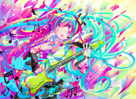 paint miku by deathbylolita