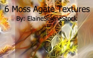 6 Moss Agate Textures by ElaineSeleneStock