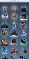 Game Icon Pack - V2 - 64 Icons by Crussong