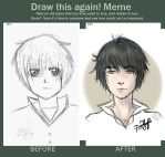 Draw This Again (2013 vs 2015) by pinkishbloo