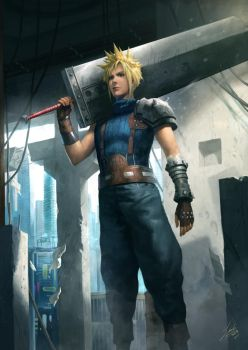 Cloud Strife by lathander1987