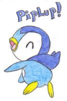 My Piplup Drawing Number 1 :D by BlueVampire101