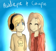 Pewdie and Cutie by lambyeen