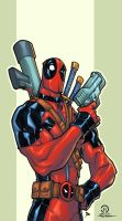 Pedro Delgado Dead Pool my colors by JoeyVazquez
