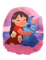 Ohana means family by xelartworks