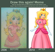 Draw this again meme  Princess Peach by Gothicraft