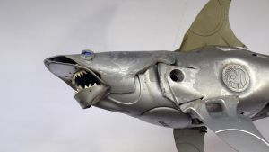 Blue Eyed Shark - detail by HubcapCreatures