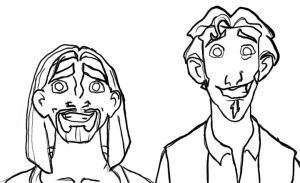 Miguel and Tulio sketch by VenDuckie