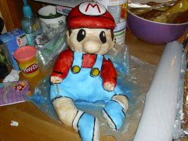 mario kart cake progress pic 4 by toastles
