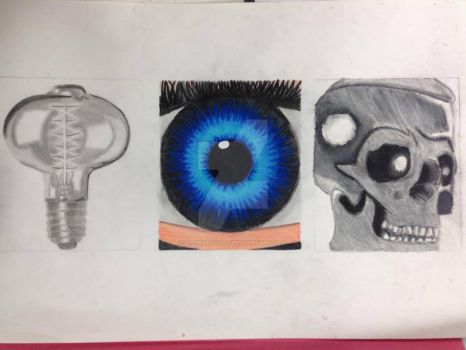 3 Mixed Media Studies - Art Coursework by AstroLuxray