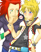 Axel+Roxas: Icecream Kisses by xxpunkgrlxx